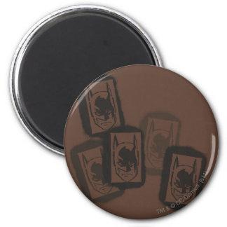 Batman Street Heroes - 4 - Batman Brown Stamps 6 Cm Round Magnet