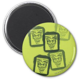 Batman Street Heroes - 6 - Joker Green Stamps 6 Cm Round Magnet