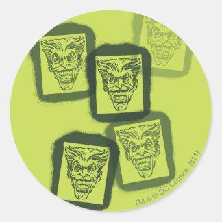 Batman Street Heroes - 6 - Joker Green Stamps Round Sticker