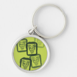 Batman Street Heroes - 6 - Joker Green Stamps Silver-Colored Round Key Ring