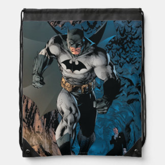 Batman Stride Drawstring Bags