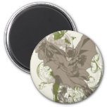 Batman Swinging Collage with Skull 6 Cm Round Magnet