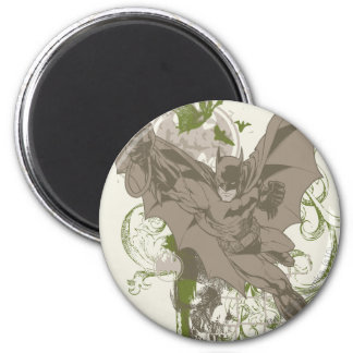 Batman Swinging Collage with Skull 6 Cm Round Magnet