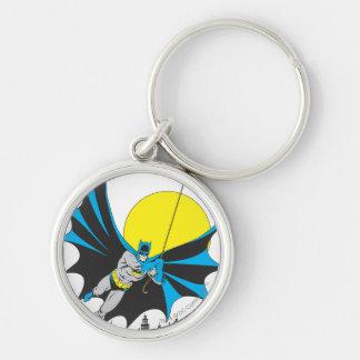 Batman Swings Silver-Colored Round Key Ring