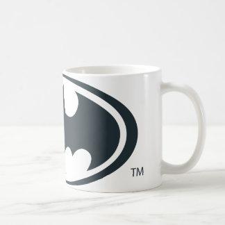 Batman Symbol | Black and White Logo Basic White Mug