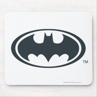 Batman Symbol   Black and White Logo Mouse Pad