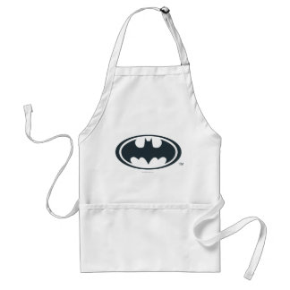 Batman Symbol   Black and White Logo Standard Apron