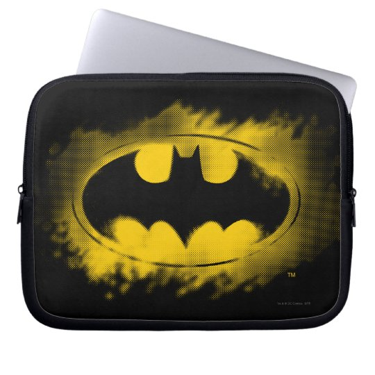 Batman Symbol | Black and Yellow Logo Laptop Sleeve