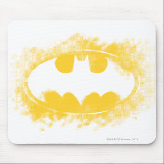 Batman Symbol   Black and Yellow Logo Mouse Pad