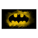 Batman Symbol | Black and Yellow Logo Poster