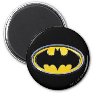 Batman Symbol   Classic Logo 6 Cm Round Magnet