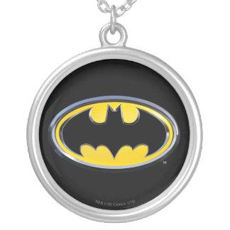 Batman Symbol   Classic Logo Round Pendant Necklace