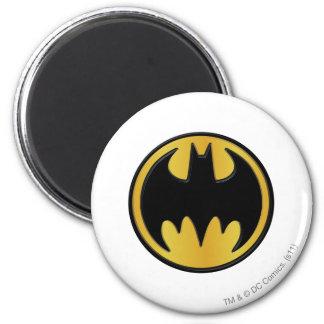 Batman Symbol   Classic Round Logo 6 Cm Round Magnet