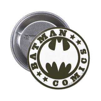 Batman Symbol   Comics Logo 6 Cm Round Badge