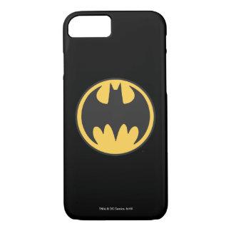 Batman Symbol | Dark Yellow Circle Logo iPhone 8/7 Case
