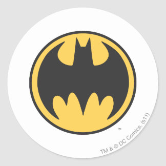 Batman Symbol | Dark Yellow Circle Logo Round Sticker