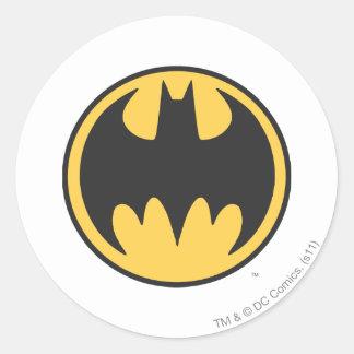 Batman Symbol | Dark Yellow Circle Logo Round Sticker