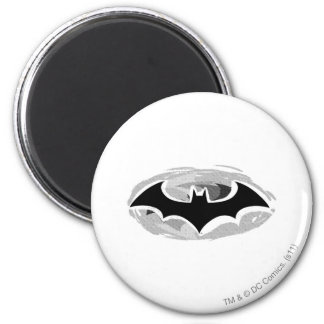 Batman Symbol | Drawn Logo 6 Cm Round Magnet