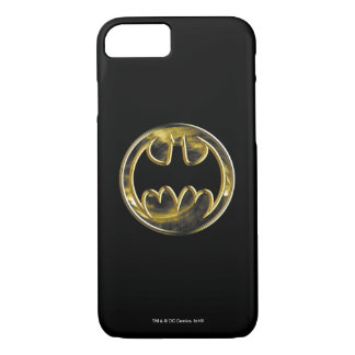 Batman Symbol   Gold Logo iPhone 7 Case