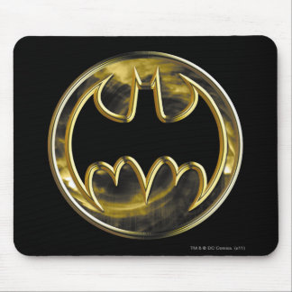 Batman Symbol   Gold Logo Mouse Pad