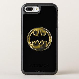 Batman Symbol   Gold Logo OtterBox Symmetry iPhone 7 Plus Case