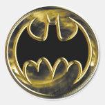 Batman Symbol | Gold Logo Round Sticker