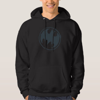 Batman Symbol | Gray Grunge Logo Hoodie