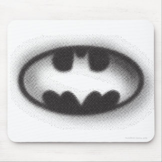 Batman Symbol   Halftone Logo Mouse Pad