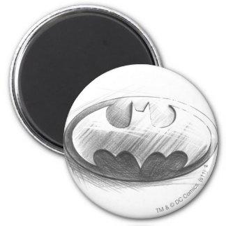 Batman Symbol | Insignia Drawing Logo 6 Cm Round Magnet