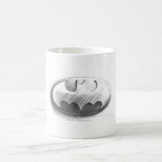 Batman Symbol   Insignia Drawing Logo Basic White Mug