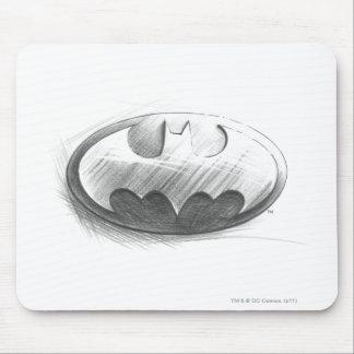 Batman Symbol   Insignia Drawing Logo Mouse Pad