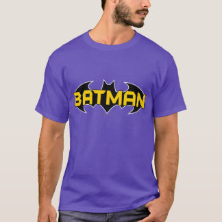 Batman Symbol | Name Yellow & Black Logo T-Shirt