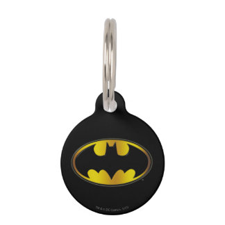 Batman Symbol | Oval Gradient Logo Pet Nametag