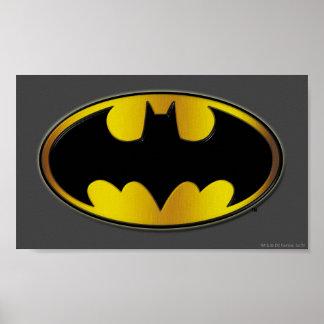 Batman Symbol   Oval Gradient Logo Poster