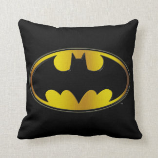 Batman Symbol | Oval Gradient Logo Throw Pillow
