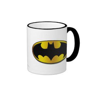 Batman Symbol | Oval Logo Gradient Ringer Mug