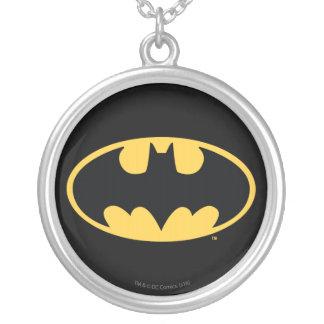 Batman Symbol | Oval Logo Round Pendant Necklace