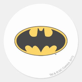 Batman Symbol | Oval Logo Round Sticker