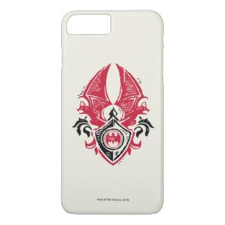 Batman Symbol | Red Black Bat Stamp Crest Logo iPhone 7 Plus Case