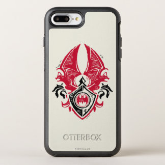 Batman Symbol | Red Black Bat Stamp Crest Logo OtterBox Symmetry iPhone 7 Plus Case