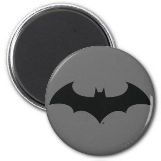 Batman Symbol | Simple Bat Silhouette Logo 6 Cm Round Magnet