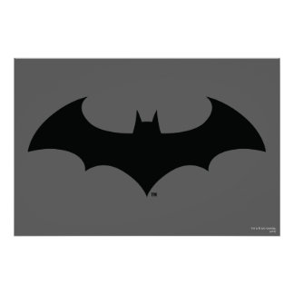 Batman Symbol   Simple Bat Silhouette Logo Poster