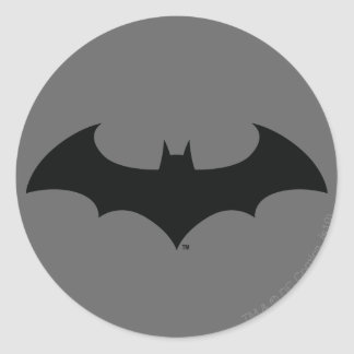 Batman Symbol | Simple Bat Silhouette Logo Round Sticker