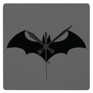 Batman Symbol | Simple Bat Silhouette Logo Square Wall Clock