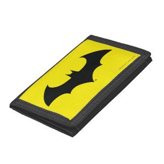 Batman Symbol | Simple Bat Silhouette Logo Trifold Wallets
