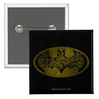 Batman Symbol   Skulls in Bat Logo 15 Cm Square Badge
