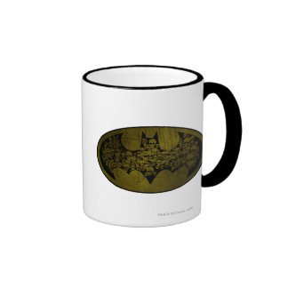 Batman Symbol | Skulls in Bat Logo Ringer Mug