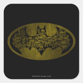 Batman Symbol   Skulls in Bat Logo Square Sticker