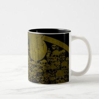 Batman Symbol | Skulls in Bat Logo Two-Tone Coffee Mug