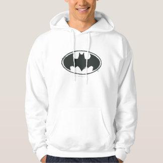 Batman Symbol | Spray Black White Logo Hoodies